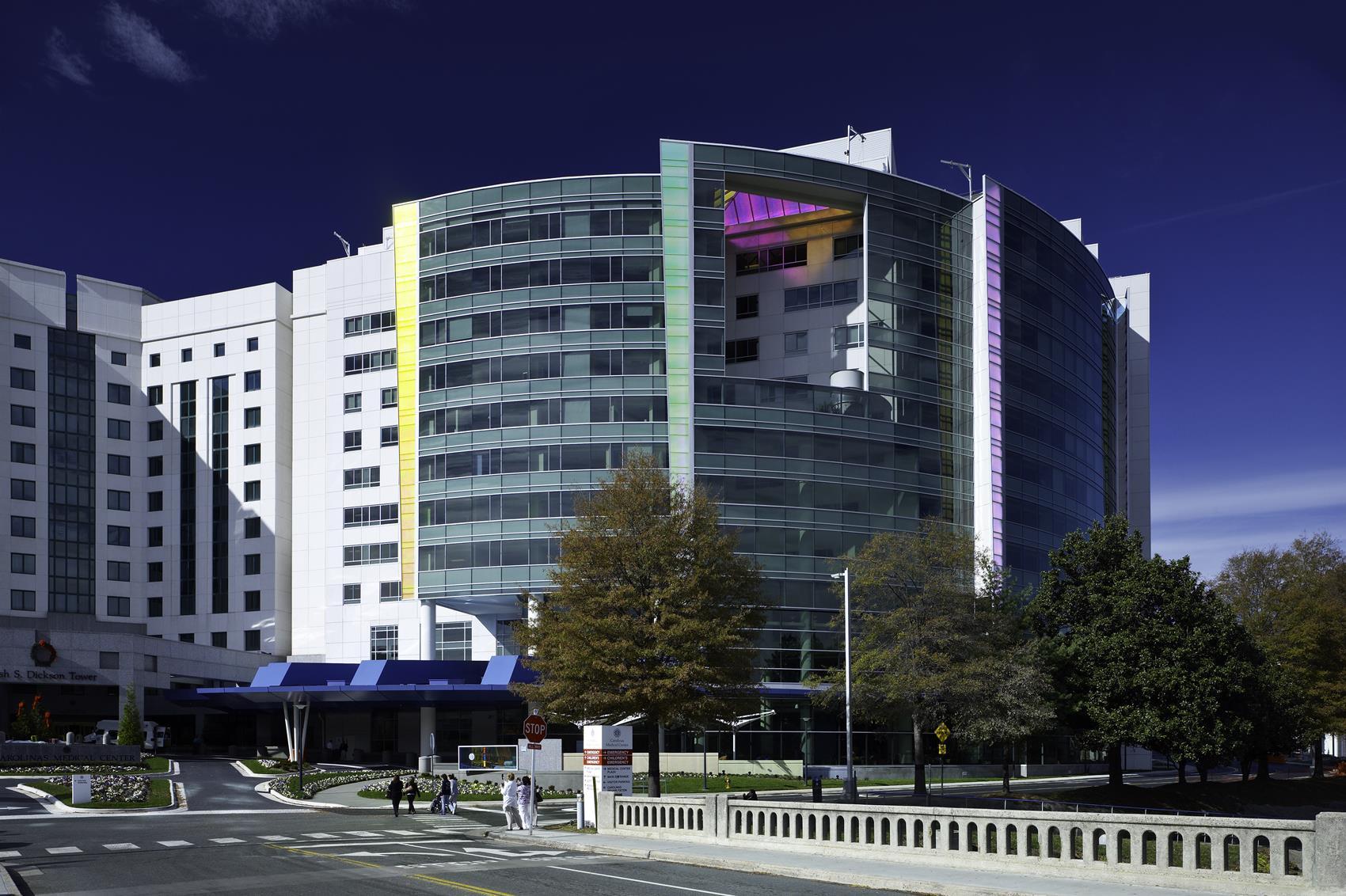 Exterior view of Levine Children's Hospital
