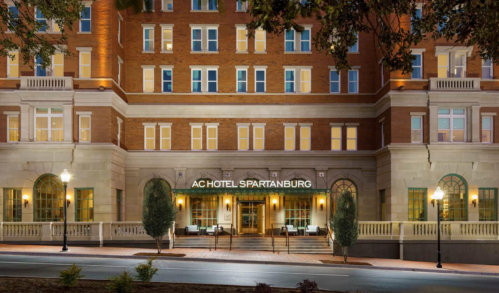 Entrance to A C Hotel Spartanburg