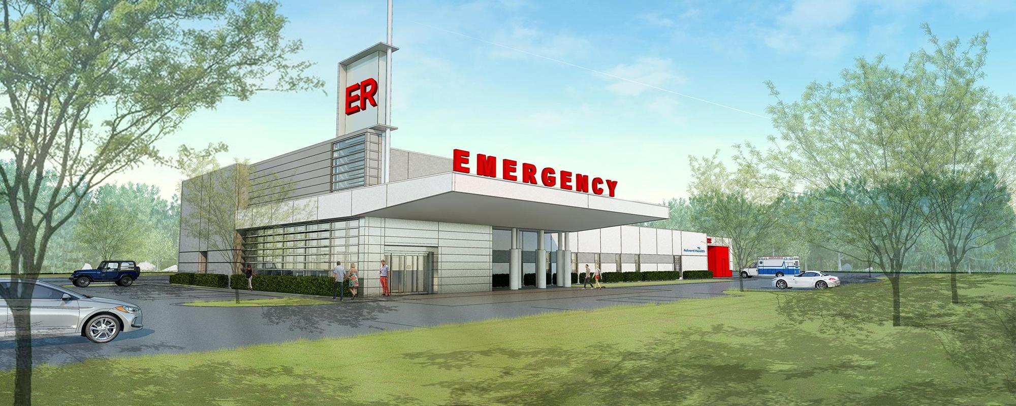 emergency department rendering