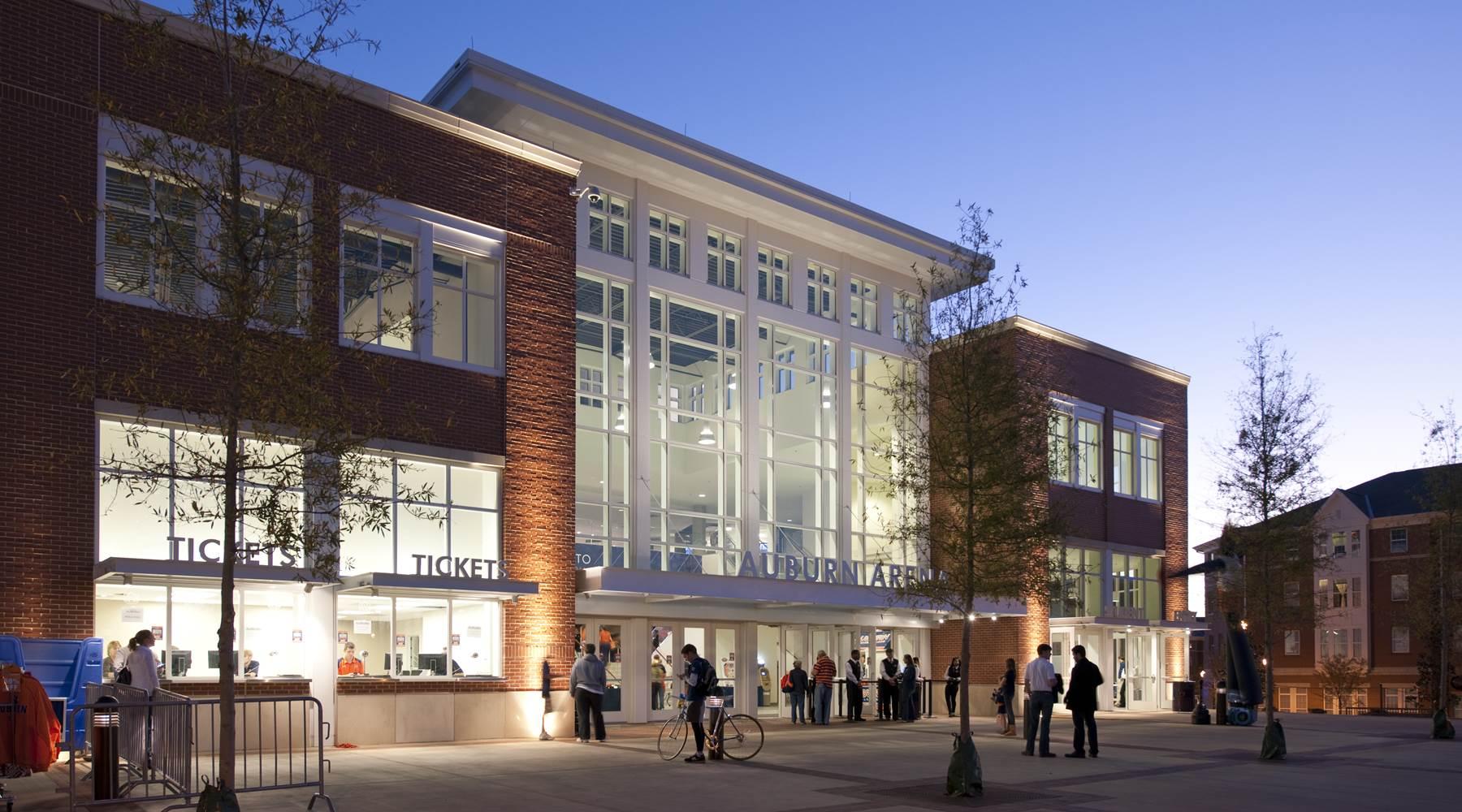 Auburn Arena at night