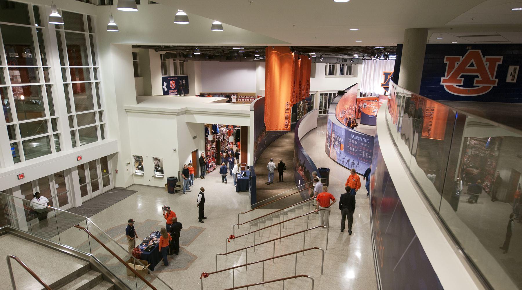 Interior view of Auburn Arena