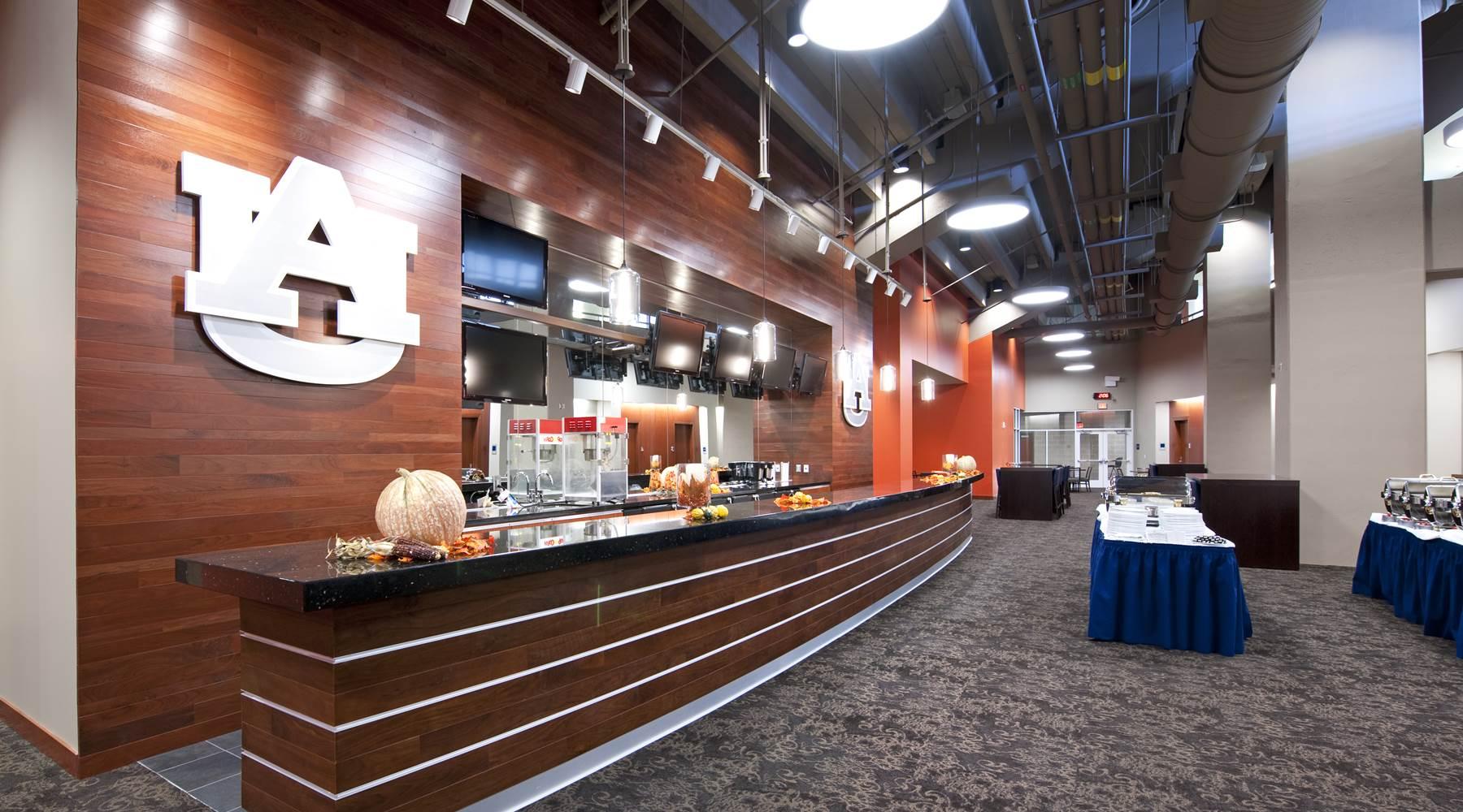 Auburn Arena hospitality area