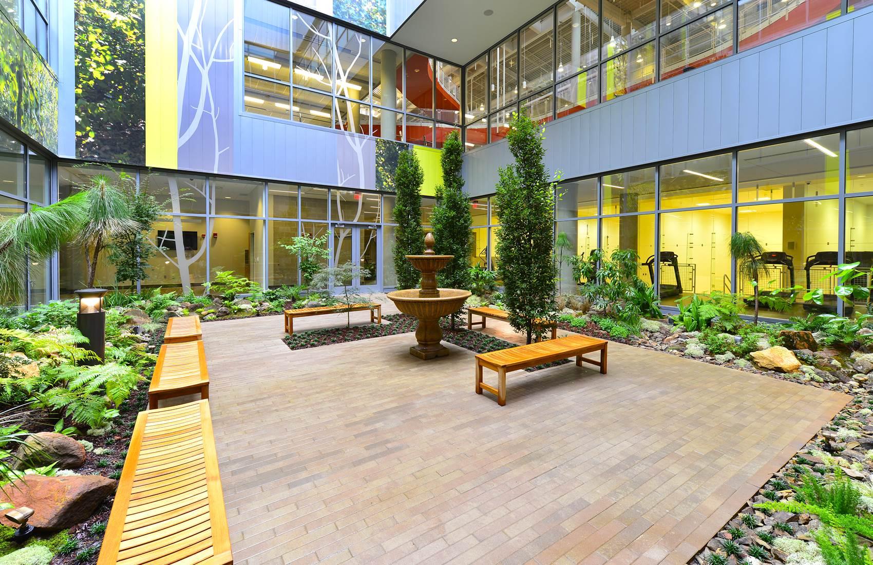Auburn University Recreation and Wellness Center courtyard