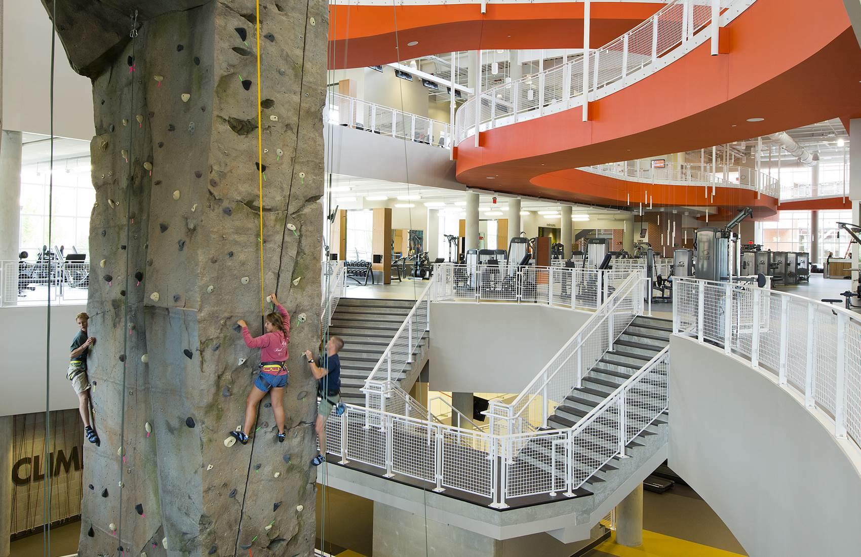 Climbing Wall at the Auburn University Recreation and Wellness Center