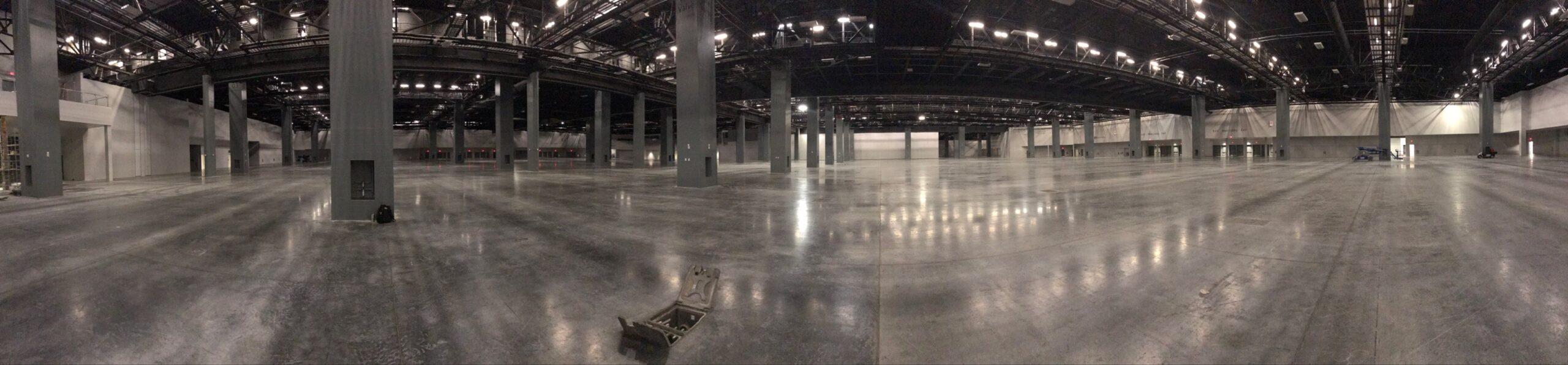 empty convention center