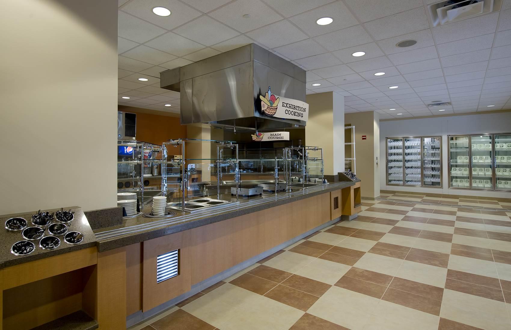 Food service area at Florida Hospital Memorial Medical Center