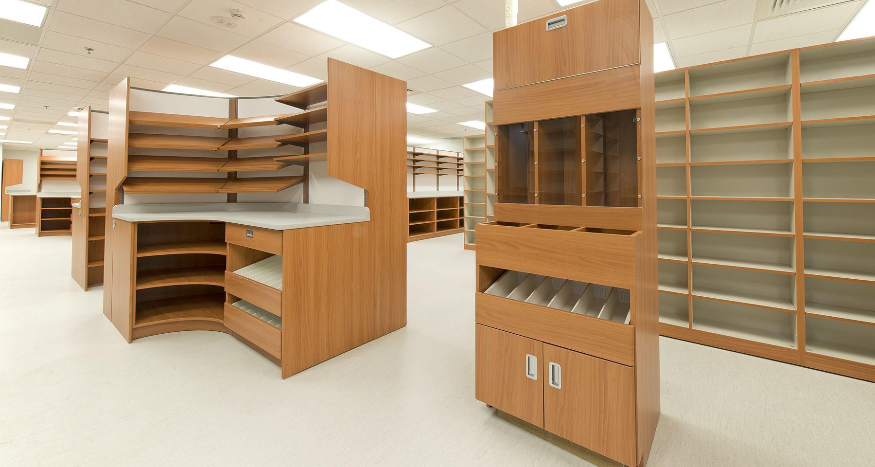 Pharmacy casework at Fort Rucker