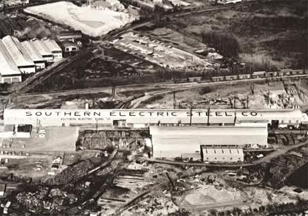 a steel mill