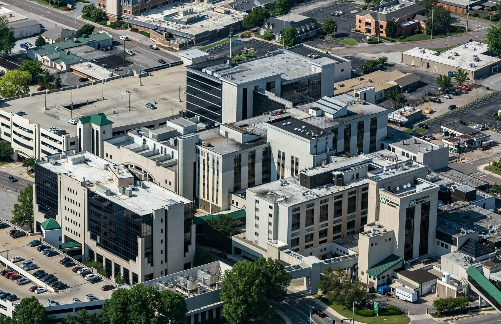 Aerial view of Huntsville Hospital