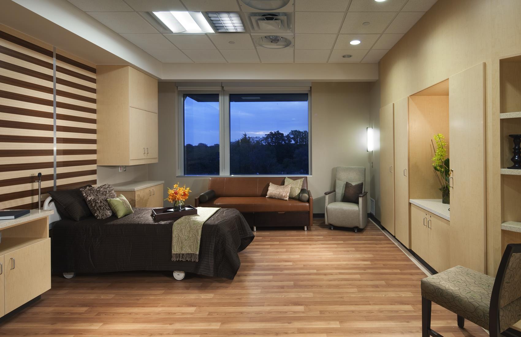 Patient room at Integris Health Edmond