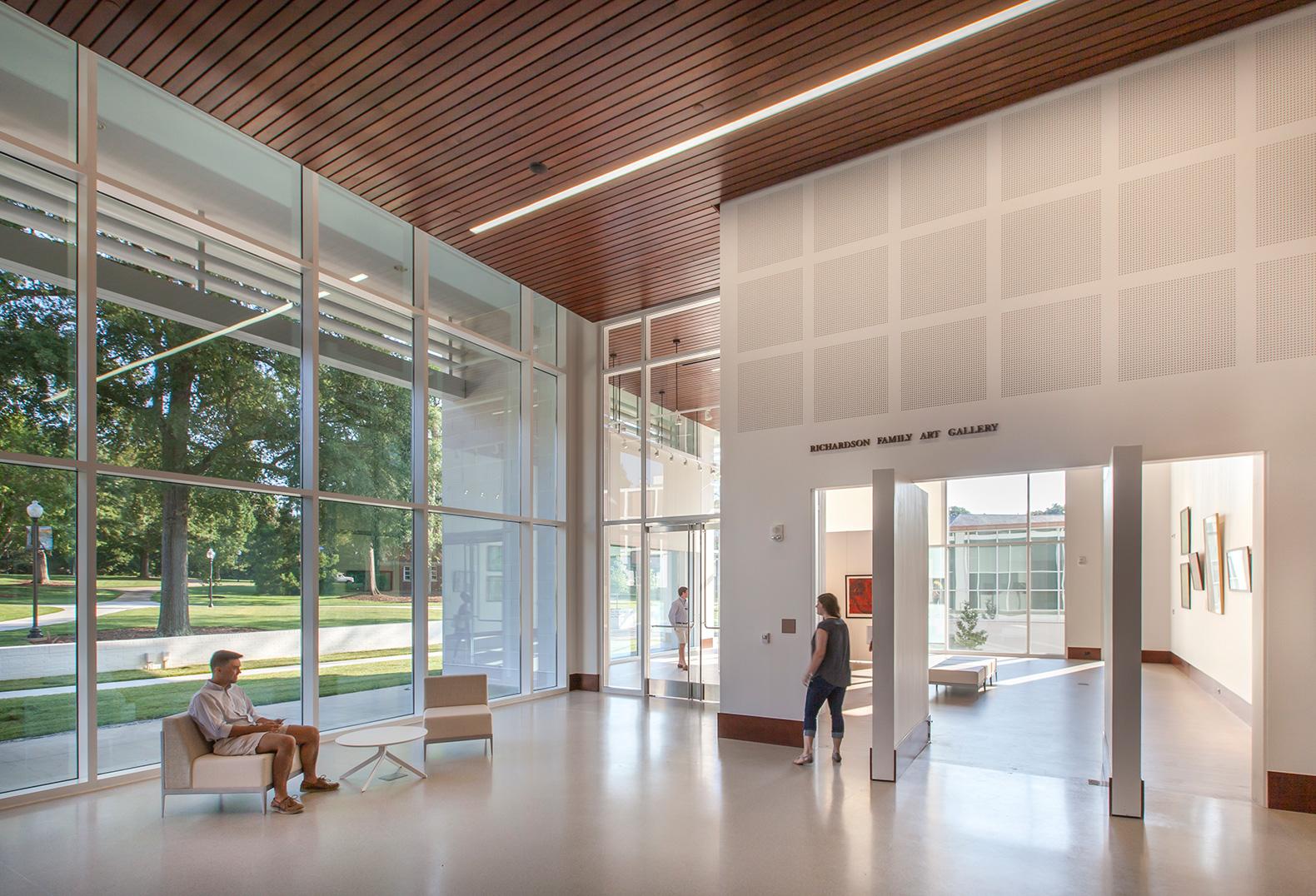 Main lobby of Rosalind Sallenger Richardson Center for the Arts