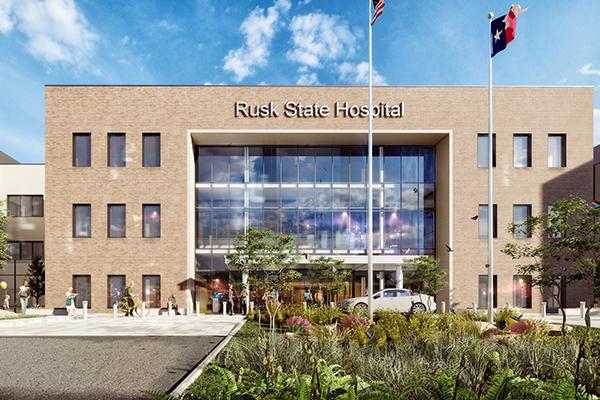 Rusk State Hospital Rendering