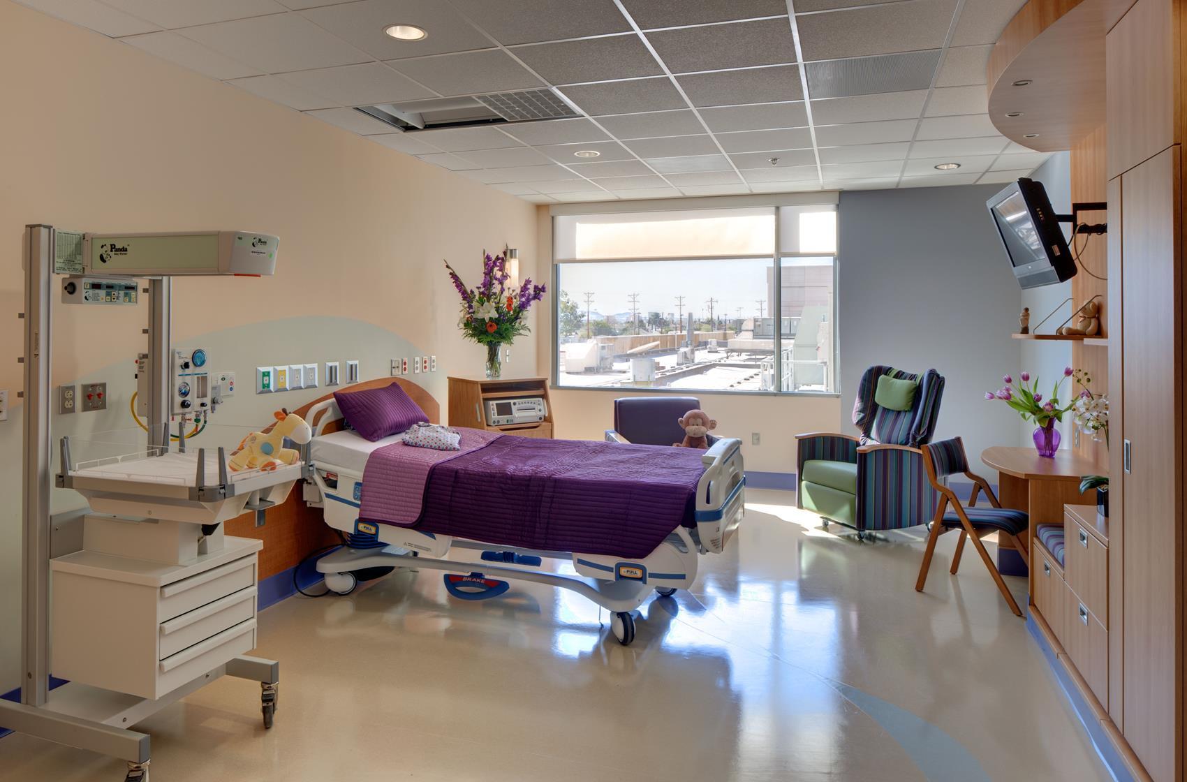 Patient room at El Paso Children's