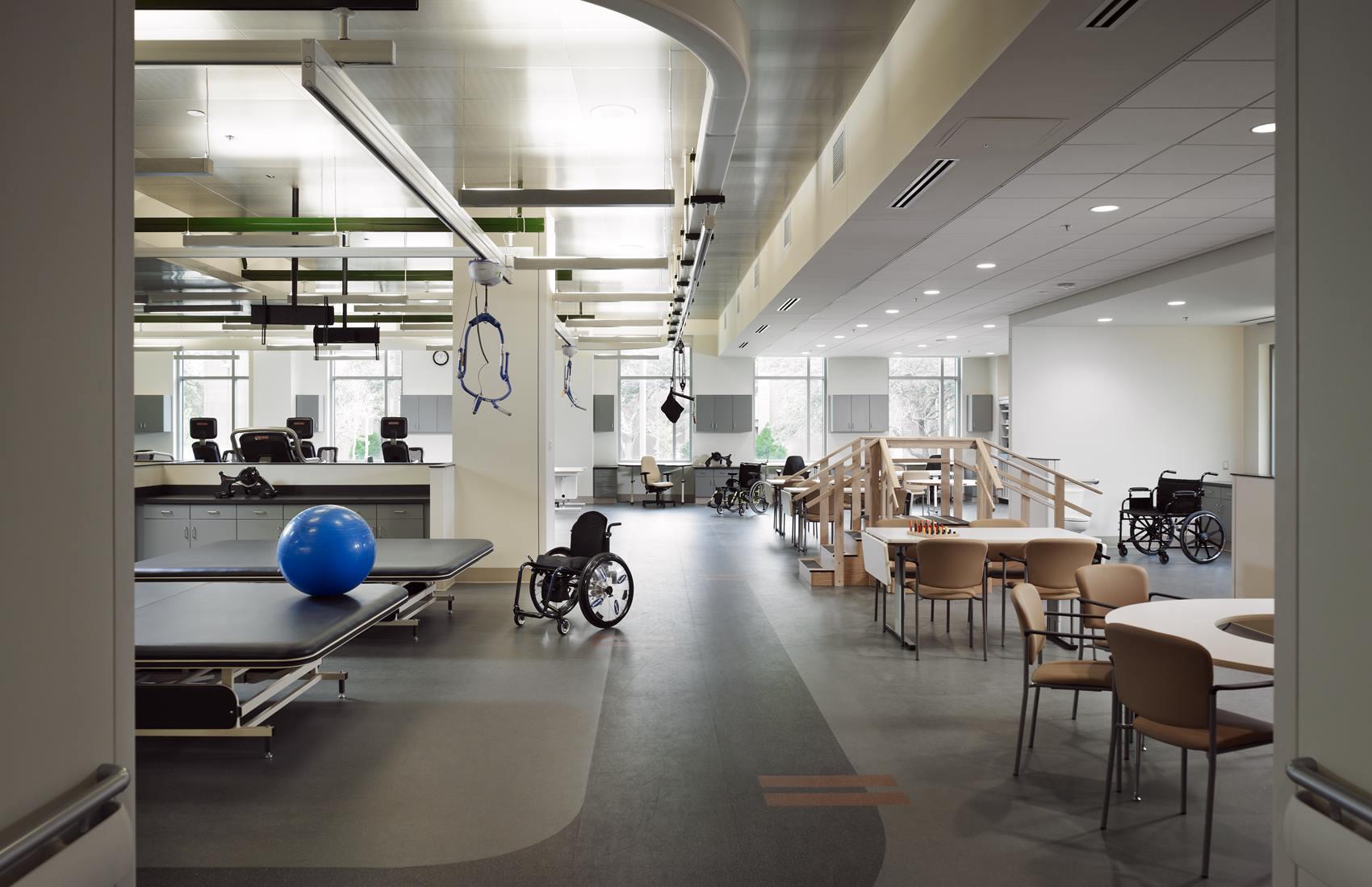 Polytrauma Rehab Center physical therapy room