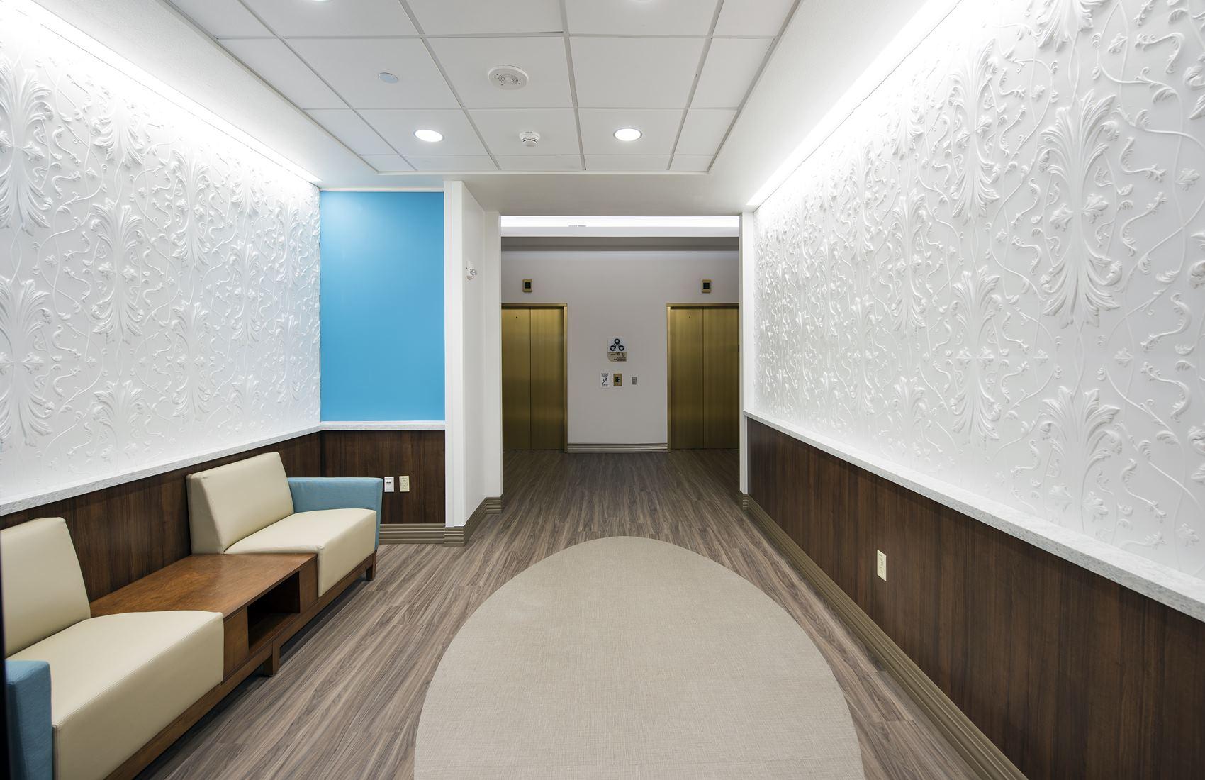 Hallway inside Winnie Palmer Hospital for Women and Children